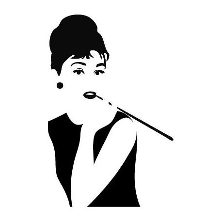 pegatina pared Audrey Hepburn VIII