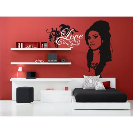vinilo decorativo Love Texto
