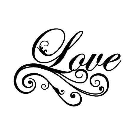 Love Texto producto vinilos