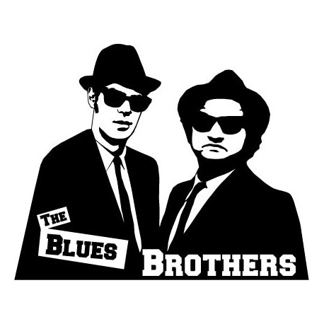 pegatina pared The Blues Brothers