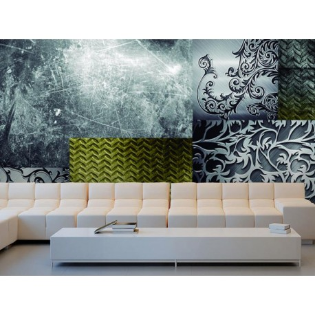 pegatina decorativa Fotomural Collage Metal