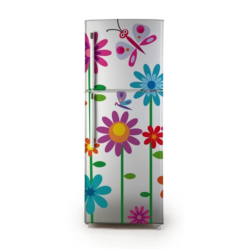 vinilo flores para frigor fico