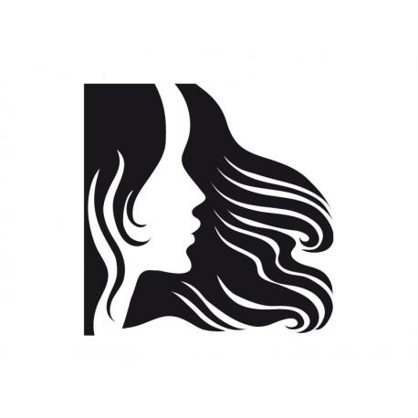 Perfil Mujer I imagen vinilo decorativo
