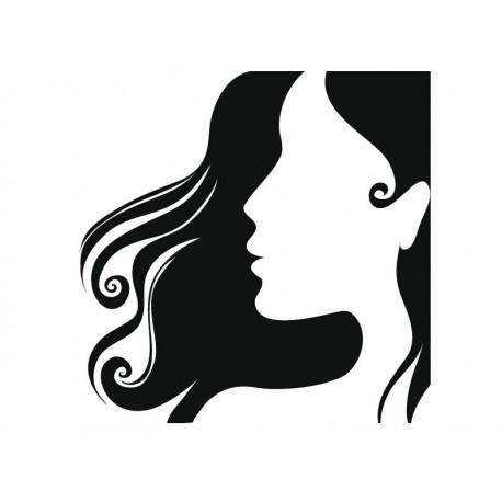 Perfil Mujer III imagen vinilo decorativo