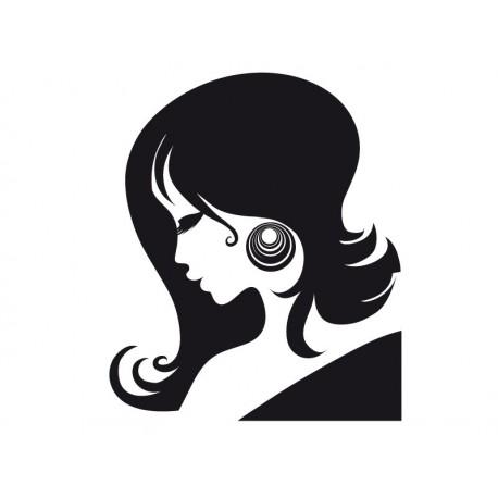 Perfil Mujer IV adhesivo decorativo ambiente