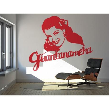 pegatina pared Guantanamera