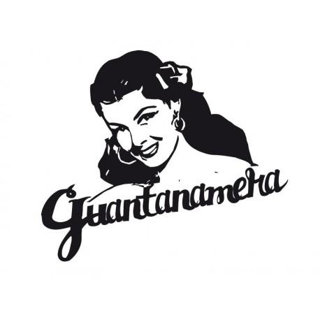 Guantanamera imagen vinilo decorativo