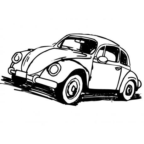 vinilos imagen producto Escarabajo Coche