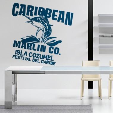 Caribe Texto decoración con vinilo