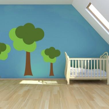 adhesivo decorativo Infantil Coches Ciudad Arbol I