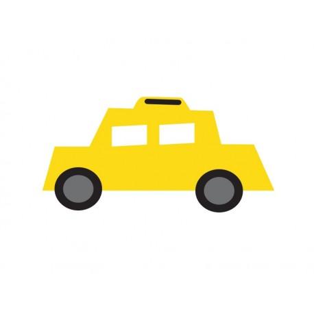 vinilo decorativo Infantil Coches Ciudad Taxi