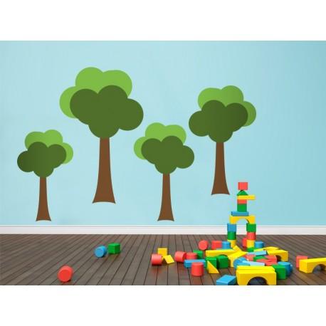 Infantil Coches Ciudad Arbol II adhesivo decorativo ambiente