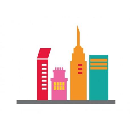 vinilos imagen producto Infantil Coches Ciudad Edificios I