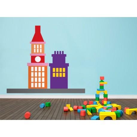 Infantil Coches Ciudad Edificios III producto vinilos