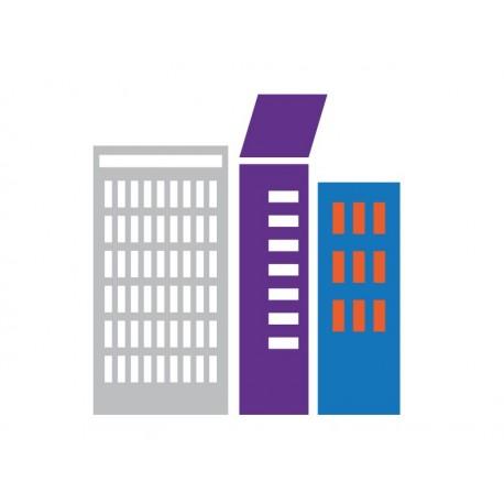 Infantil Coches Ciudad Edificios V decoración con vinilo