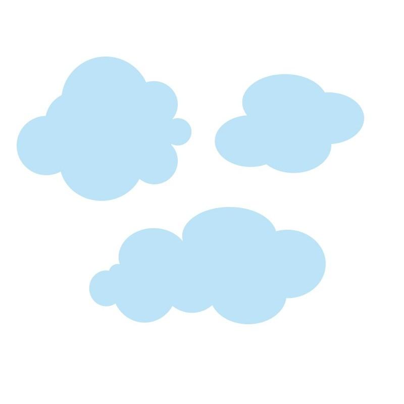 Vinilo infantil coches ciudad nubes - Imagenes de nubes infantiles ...