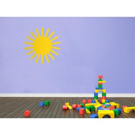 Infantil Coches Ciudad Sol imagen vinilo decorativo