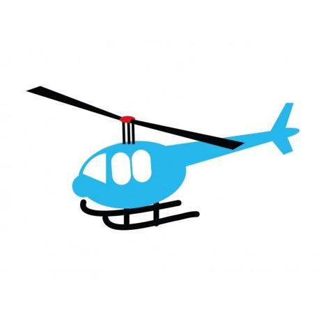 vinilo decorativo Infantil Coches Ciudad Helicoptero