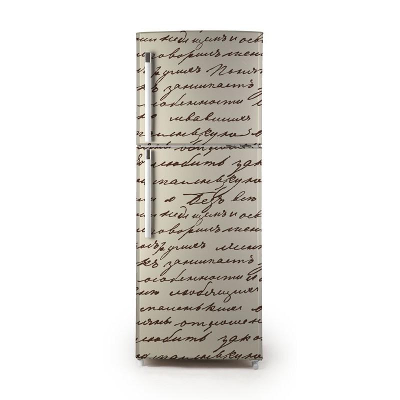 vinilo manuscrito para frigor fico