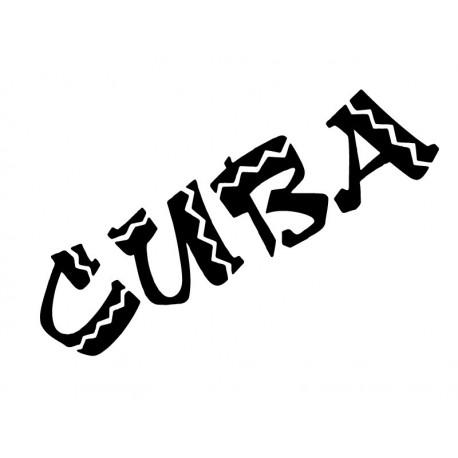 adhesivo decorativo Cuba Texto