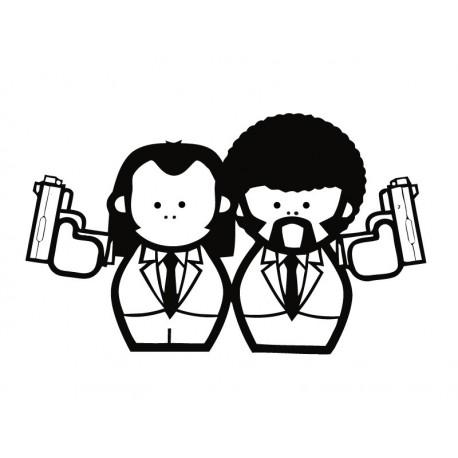 Personajes Pulp Fiction producto vinilos