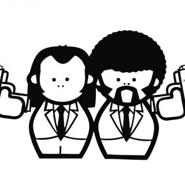Personajes Pulp Fiction decoración con vinilo