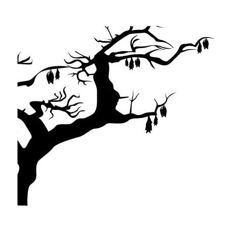 Árbol Murciélagos decoración con vinilo