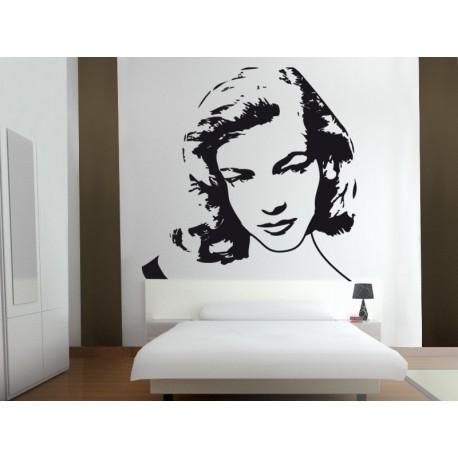 Lauren Bacall adhesivo decorativo ambiente