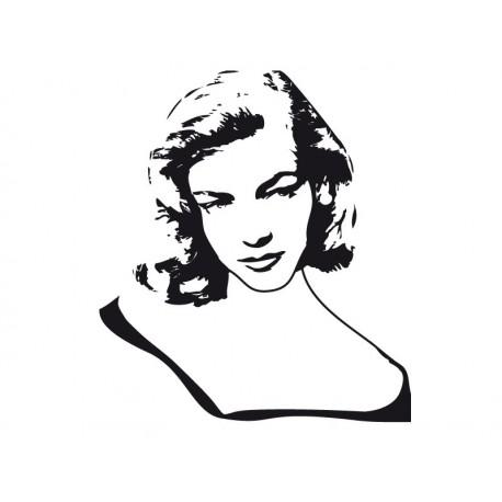 Lauren Bacall decoración con vinilo
