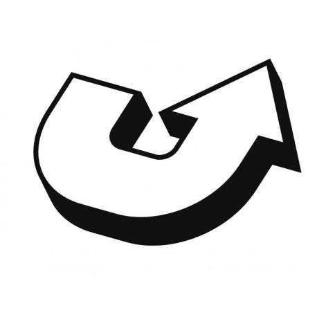 vinilo decorativo Flecha U