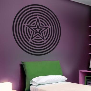 Geometría Psicodélica decoración con vinilo