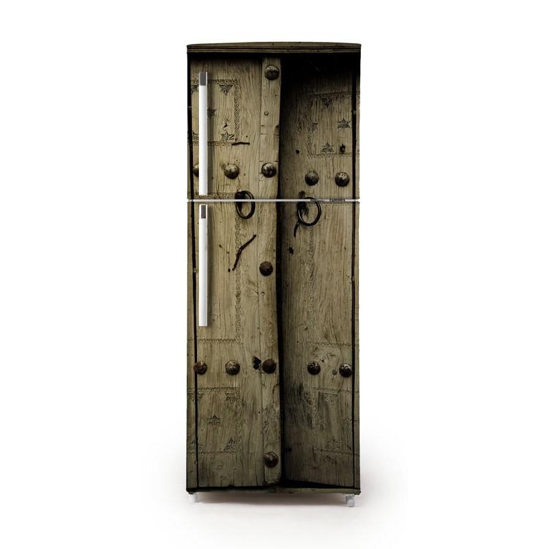 Vinilo puerta r stica para frigor fico - Puertas de vinilo ...