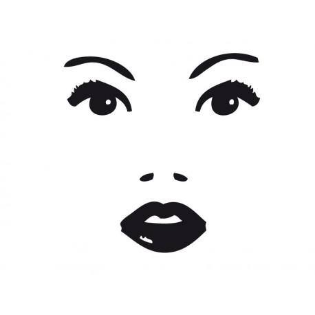 adhesivo decorativo Rostro Mujer I