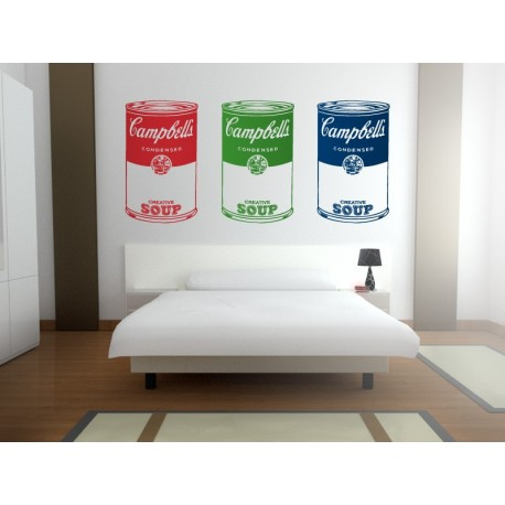 Sopa Campbelle´s para Cabecero imagen vinilo decorativo