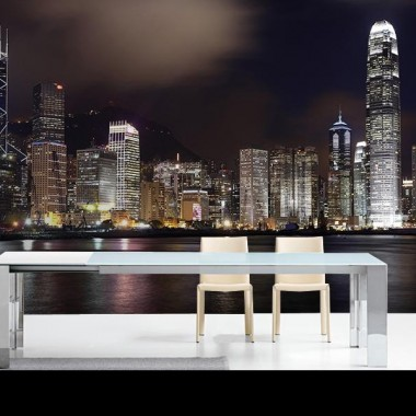 pegatina pared Fotomural HongKong Skyline