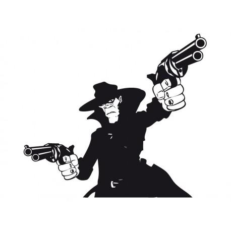 Pistolero imagen vinilo decorativo