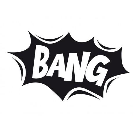 Onomatopeya Bang Motivo adhesivo decorativo ambiente