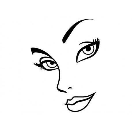 pegatina decorativa Rostro Mujer II