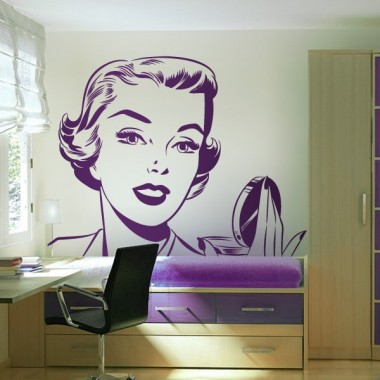 adhesivo decorativo Cara Mujer Años 50 I