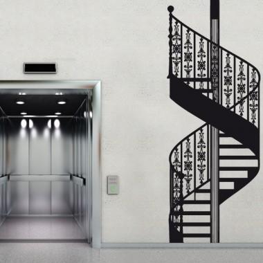 Escalera de Caracol imagen vinilo decorativo