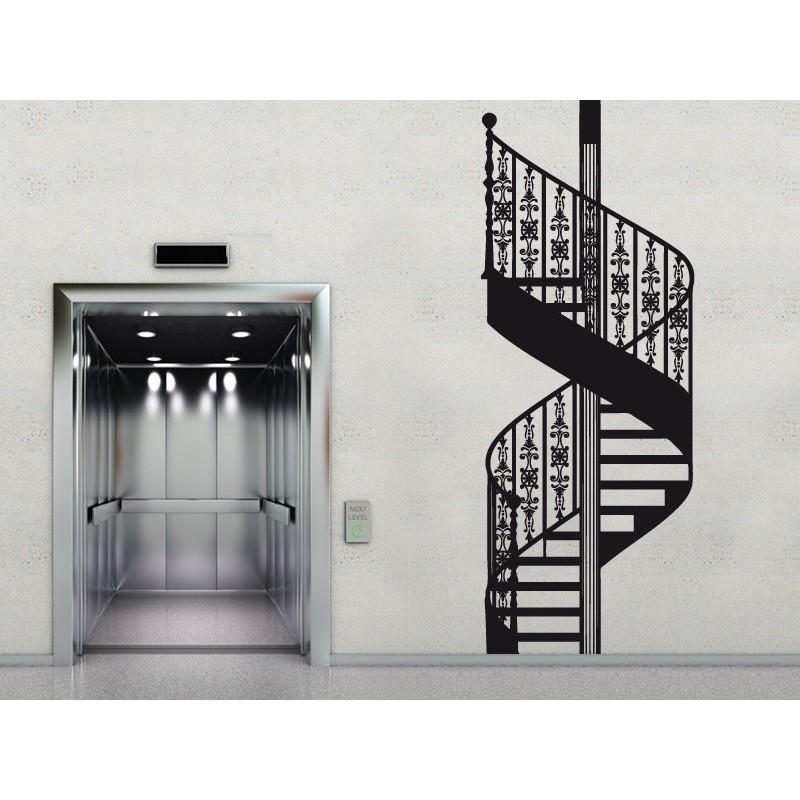 Vinilo escalera de caracol - Vinilos para escaleras ...