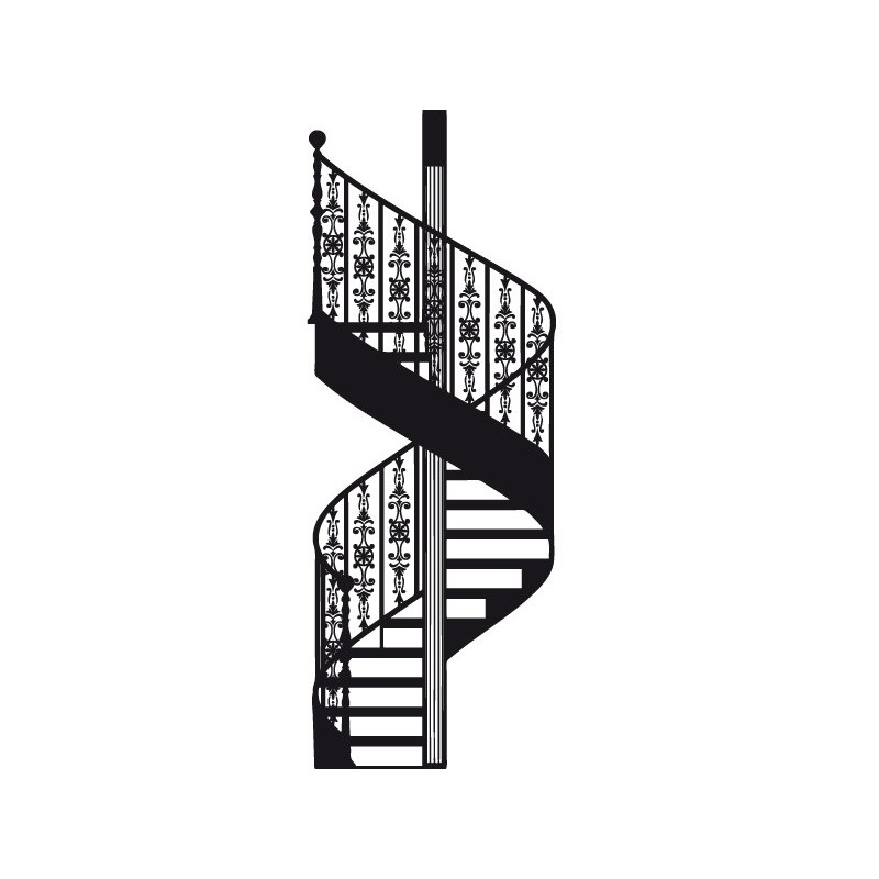 Vinilo escalera de caracol for Ver escaleras de caracol