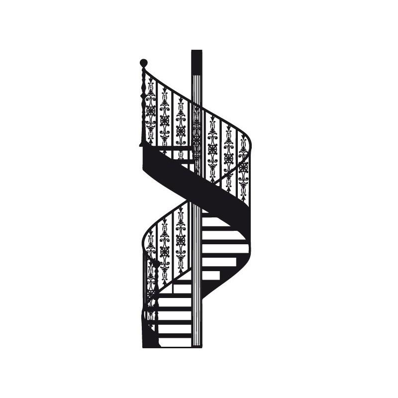 Vinilo escalera de caracol - Medidas escalera caracol ...