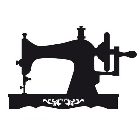 Máquina de Coser decoración con vinilo