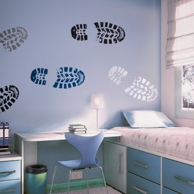 adhesivo decorativo Huellas Zapatos