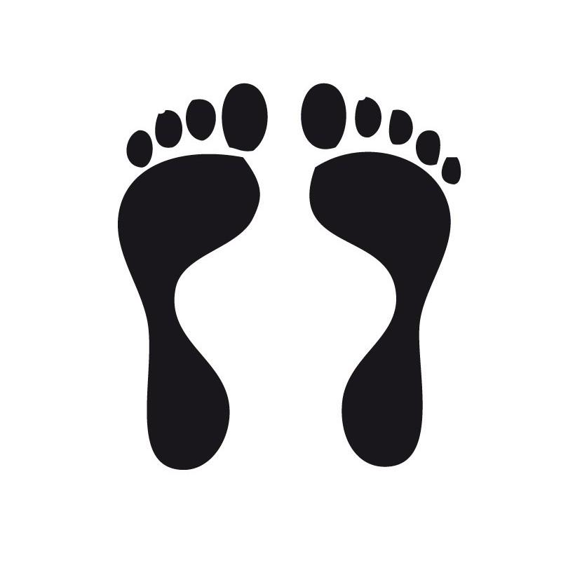 Vinilo huella pies iii - Dibujos de vinilo para paredes ...