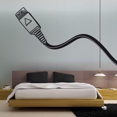 vinilo decorativo Clavija USB para Cabecero