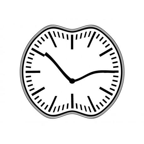 pegatina pared Reloj Ondulante I