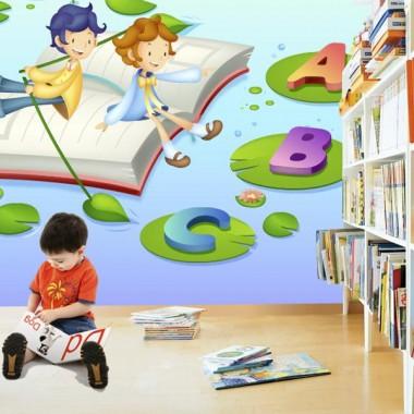 Fotomural Infantil Navecultura decoración con vinilo