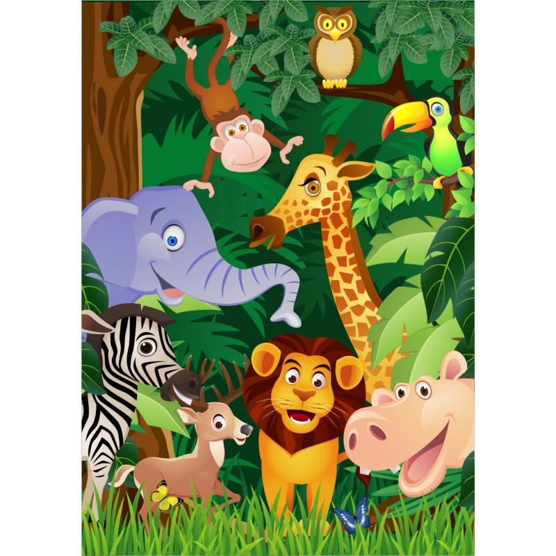 Fotomural infantil animales selva for Fotomurales infantiles para paredes